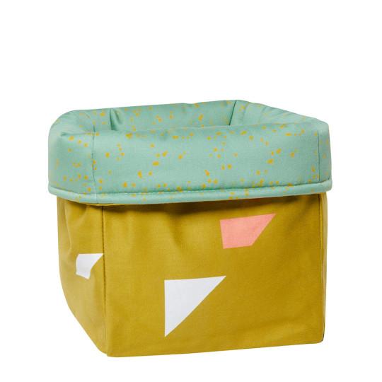 MEINE LIEBE – BOX DOTS • GRÜN • KLEIN • 20x20x20cm