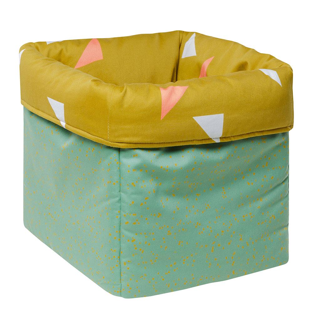 MEINE LIEBE – BOX DOTS • GRÜN • GROSS • 33x33x33cm