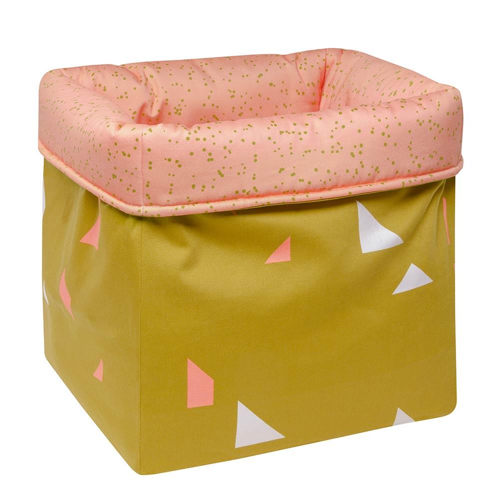 MEINE LIEBE – BOX DOTS • PEACH • GROSS • 33x33x33cm