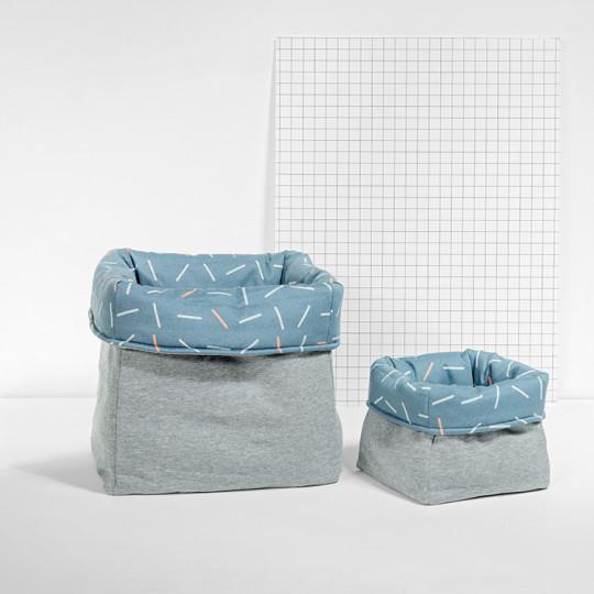 MEINE LIEBE – BOX STICKS • JEANSBLAU • GROSS •33x33x33cm 4