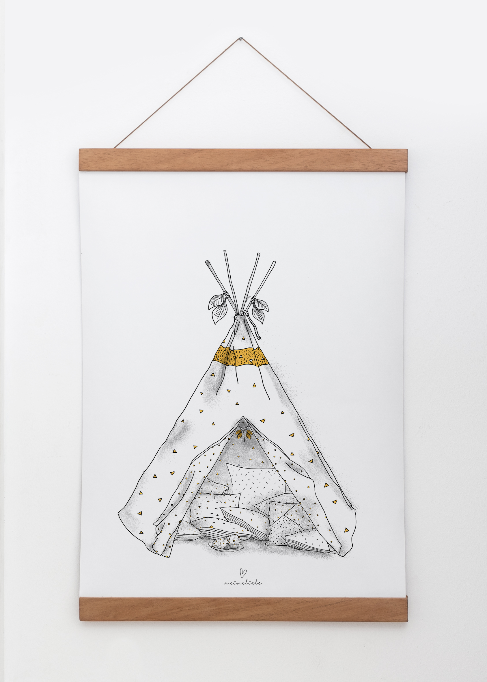 MEINE LIEBE – POSTER TIPI • Din A3 29,7x42cm