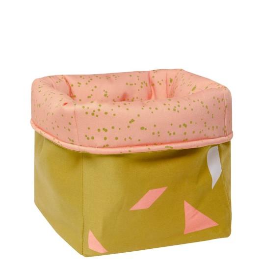 MEINE LIEBE – BOX DOTS • PEACH • KLEIN • 20x20x20cm