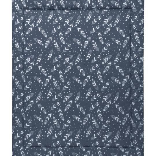 MEINE LIEBE – KRABBELDECKE FEATHER • GRAUBLAU • 90x110cm