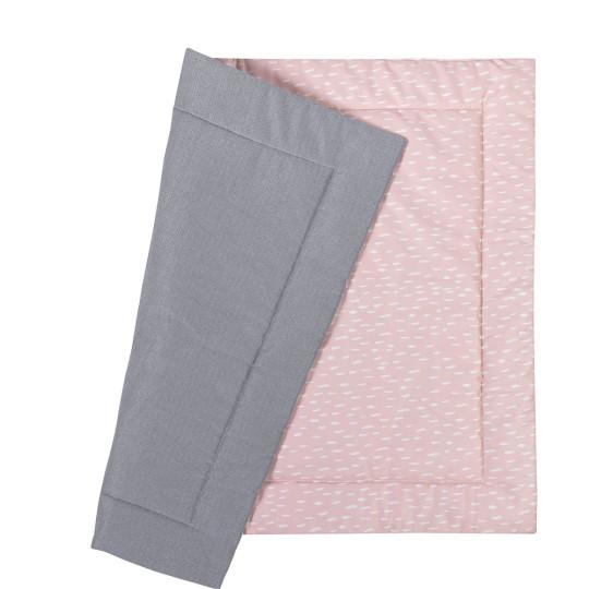 MEINE LIEBE – KRABBELDECKE POWDER RAIN • ROSE • 90x110cm