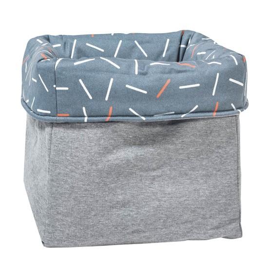 MEINE LIEBE – BOX STICKS • JEANSBLAU • GROSS •33x33x33cm